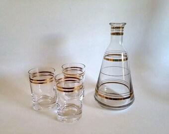 Russian Crystal Vodka Decanter Set