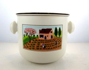 Flower pot illustrated by Laplau for Villeroy & Boch- Design naif/ 1980- Luxembourg