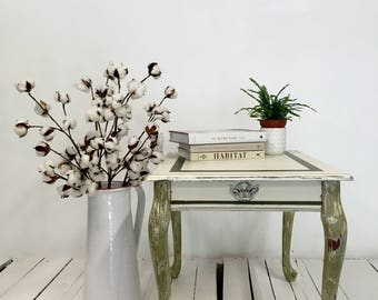 Hand painted wooden table