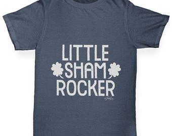 Boys Funny Tshirts little Sham Rocker Boy's T-Shirt