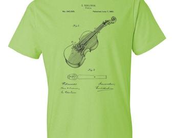 Berliner Violin T-Shirt Patent Art Gift, Violin Shirt, Violin Patent, Violinist Gift, Violin Teacher Gift, Violin Player Gift, Musician Gift