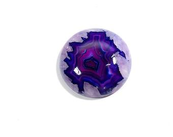 Purple Amethyst Quartz Cabochon Gemstone Round Natural Top Quality Amethyst Quartz Loose Gemstone 49Cts 29X29X7mm
