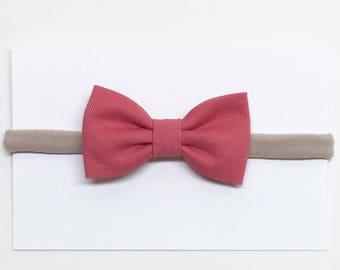 Baby Girl Bow - Dark Pink - Girl Bow - Clips or headbands