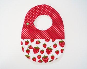 original bib Strawberry and dots