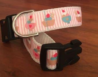 Ice cream sundae dog collar