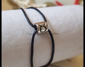 Taurus Leather Horoscope bracelet. Birthday bracelet.  Birthday gift Ella/bracelet man/leather bracelet. Zodiac