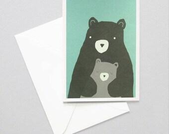 Greeting card of bears