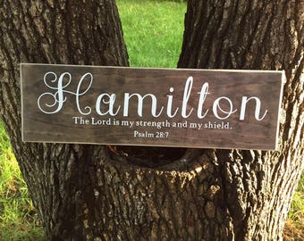 Religious Gift, Family Name Sign, Bible Verse Sign, Personalized Name Sign, Great Anniversary Gift, Last Name Sign, Wedding Gift,Custom Sign