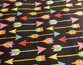"Arrows on brown 3 yards of 44"" fabric"