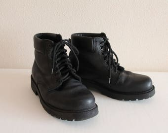 Combat Boots Black Boots Black Ankle Boots Lace Up Boots Vintage Army Combat Boots Military Boots Motorcycle Boots Army Boots Size 42