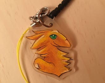 Amber Dragon Cellphone Charm