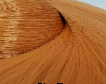 Etsy Celebration Sale Giselle Natural Peach Blonde Orange Nylon Doll Hair Hank for Rerooting Barbie® Monster High® Ever After High® MLP Fash