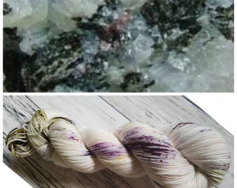 Hand Dyed Yarn, Merino, Nylon, Fingering Weight Tonal Sock Yarn Perfect for Socks, Lightweight Accessories - Russian Ruby