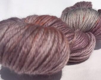 100% wool yarn: Purple rocks