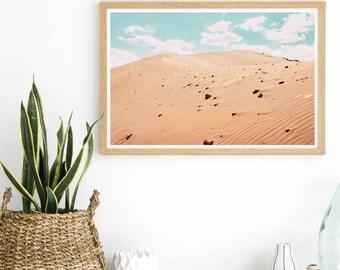 Peach Sands - Desert Print - Desert Scene - Desert Photography - Sand Print - Boho Girl Wall Art - Boho Wall Art Decor