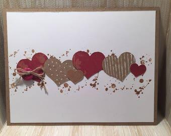 Happy Valentines Day Card//Handmade Card