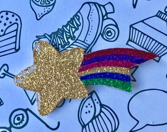 "Brooch ""Rainbow Star"""