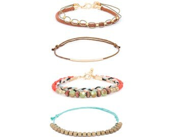 Friendship Bracelet, Boho Bracelet, Hippie Bracelet, Tribal Bracelet, String Bracelet, Multistrand Bracelet, Beaded Bracelet, B4895BE