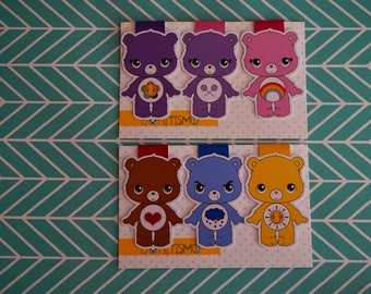 Magnetic bookmarks - Care bears