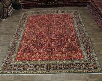 Exquisite Pattern Vintage Handmade Tabriz Persia Area Rug Oriental Carpet 10X13