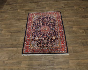 Stunning Unique Small Handmade Sarough Arak Persian Rug Oriental Area Carpet 4X5