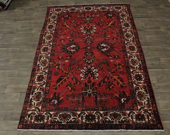 One of a Kind S Antique Bakhtiari Ferdos Persian Rug Oriental Area Carpet 7X11