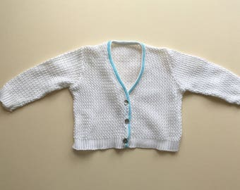 With knitted cardigan - 6/12m