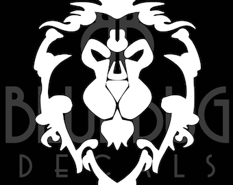 World of Warcraft Alliance High Quality Decal