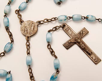 Light Blue Lourdes Rosary
