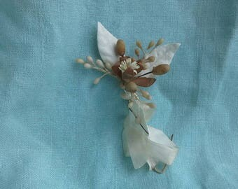 Vintage French Wedding corsage