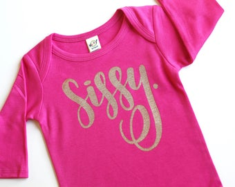 Infant gown, new baby announcement, baby announcement, sleep gown, baby sleep gown,baby shower gift, little sister, going home outfit, sissy