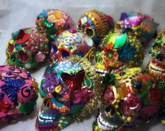 Sugar Skull Xmas Ornaments