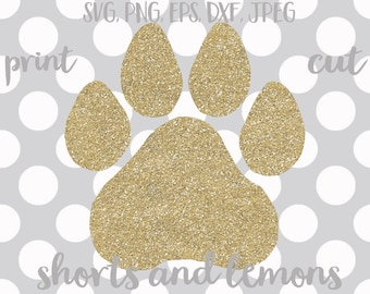 Paw svg, Paw print SVG, Paw printable, svg, Cougars, Cats, Tigers, Kentucky, dxf, svg, png, jpeg, wildcats, commercial use, vector,clip art