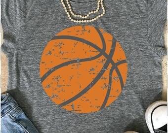 Basketball Mom svg, distressed Basketball svg, dxf, eps, png, Basketball svg, files for cricut, iron on decal, Basketball team svg, png