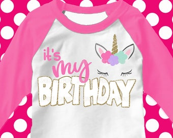 Unicorn svg, Unicorn face svg, It's my birthday unicorn, Birthday girl svg, SVG, DXF, unicorn birthday, girls svg, unicorn head svg, iron on