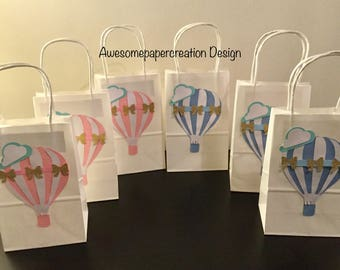 Hot air balloon favor bags, up and away favor bags,up and away party,hot air balloon theme,hot air balloon baby shower,up and away