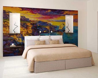 Wall Mural Painting, Wall Mural Watercolour, Painting Wallpaper, Wall Decal Painting