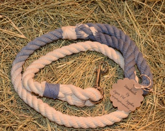 Light Blue/White Ombre Rope Leash