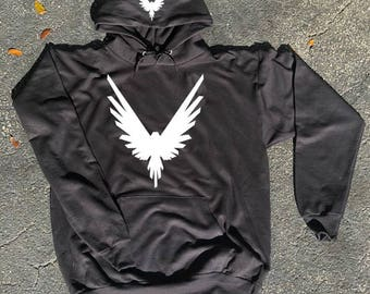Kids size White Logo Maverick Bird Front/hood hoodie  Unisex  Team 10 Jake Paul JP hoodie best price Inspired by Logan
