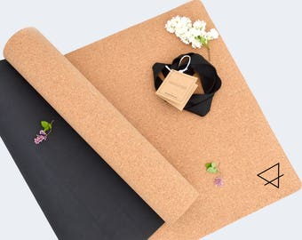 eco friendly cork yoga mat provides exceptional grip - the perfect yoga mat for all yogis, hot yoga goers, pilates, meditation lovers