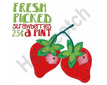 Fresh Strawberries - Machine Embroidery Design
