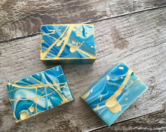 Exfoliating Gardener's Soap, Artisan, Cold Process, Mechanic's Soap, Father's Day Gift, Pumice Soap