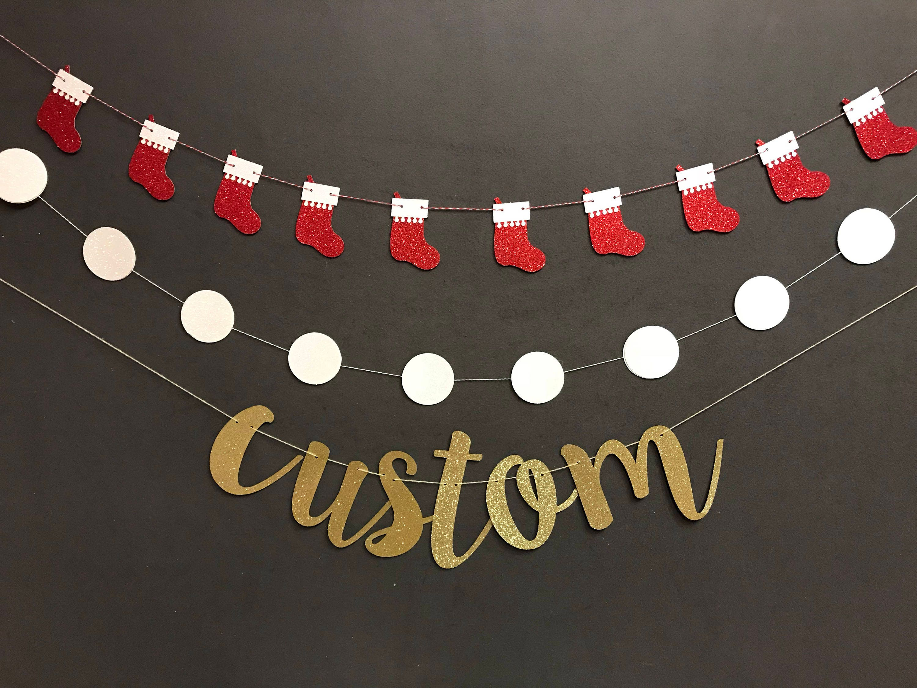 Happy Holiday Banner Custom Banners Christmas Decorations