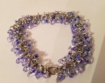 Shaggy loop bracelet