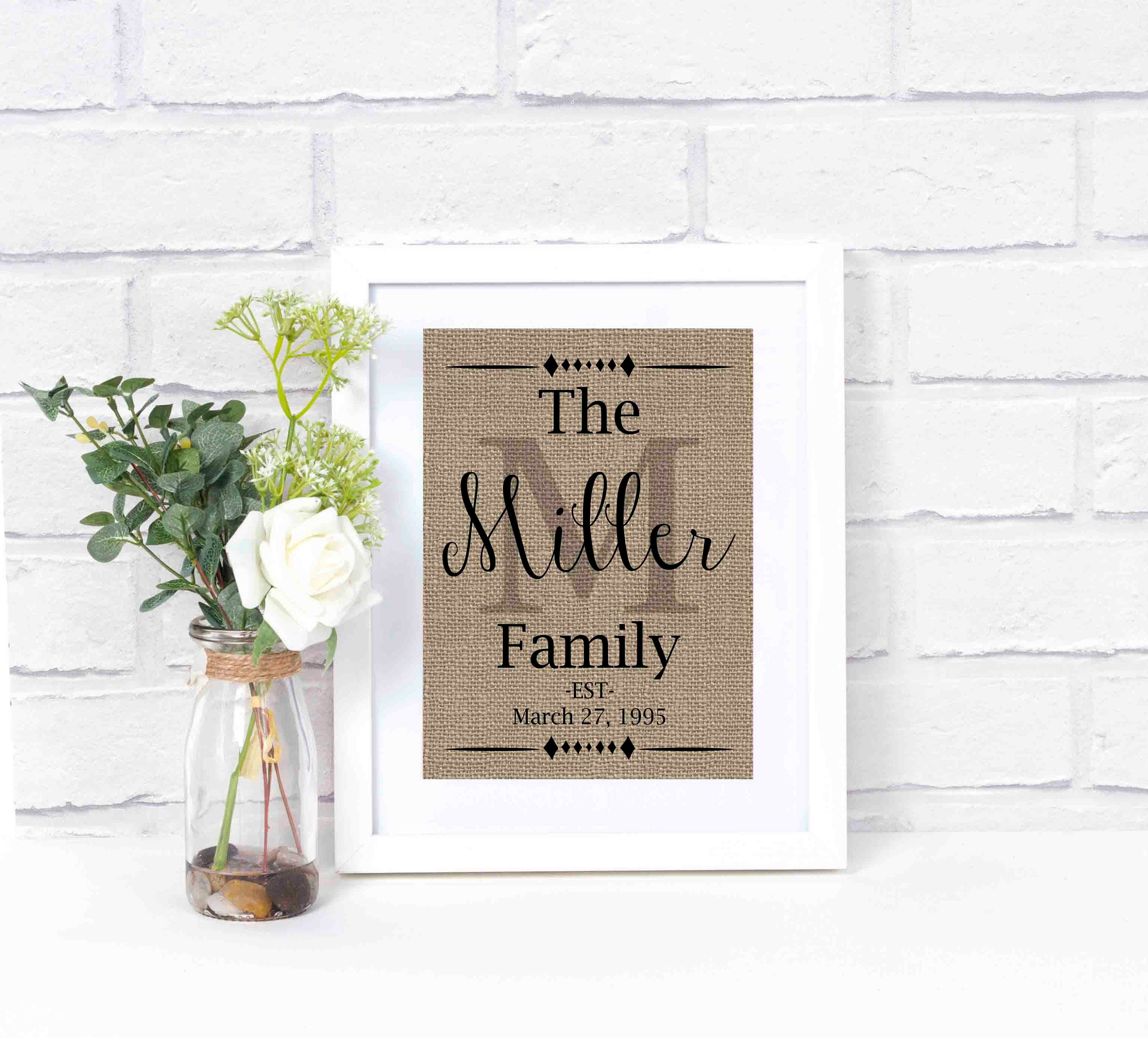 family name sign personalized last name wall decor family. Black Bedroom Furniture Sets. Home Design Ideas