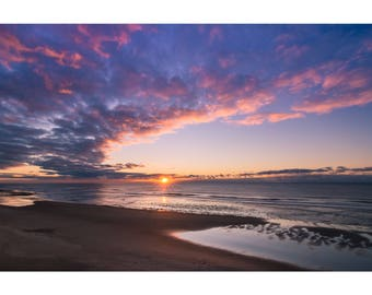 Beach Cloud Explosion Photography Print shot on Oregon Coast