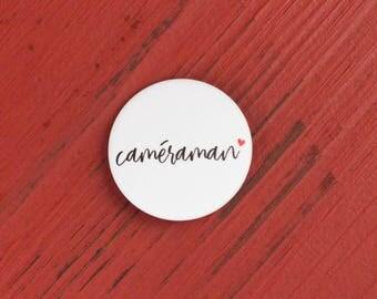 Wedding Cameraman badge