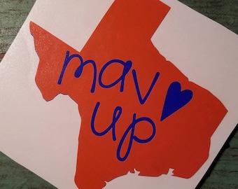 Mav Up Decal/Arlington/College/College Sports/Mavericks