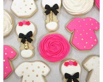 Custom Baby Shower Cookies! Pretty in Pink!