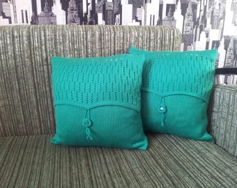 Pillow Knitted pillow Throw pillow Cable knit Couch pillow Decorative pillow Knitted pillowcase Knitted pillow cover